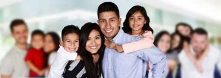Happy Young Families Stock Image