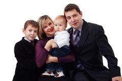Happy young family Royalty Free Stock Photos