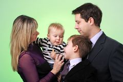 Happy young family Stock Photography