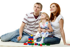 Happy young family with child. Royalty Free Stock Photography