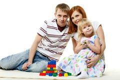 Happy young family with child. Stock Images