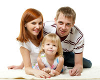 Happy young family with child. Stock Photography