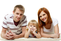 Happy young family with child. Royalty Free Stock Photo