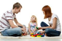 Happy young family with child. Stock Photo