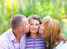 Happy young family with daughter Royalty Free Stock Images
