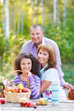 Happy young family with daughter Royalty Free Stock Photo
