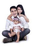 Happy Young Family - Isolated Stock Photo