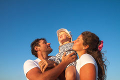 Happy Young Family with Little Child Having Fun Royalty Free Stock Image