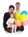 Happy young family with little daughter Royalty Free Stock Photography