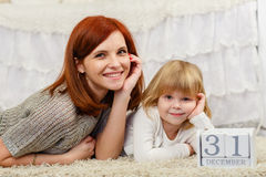 Happy young family. Stock Photography