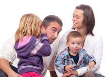 Happy young family posing Stock Image