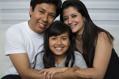 Happy young family. Stock Photos