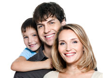 Happy young family with son Royalty Free Stock Image