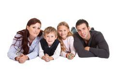 Happy young family spending time together Royalty Free Stock Photos