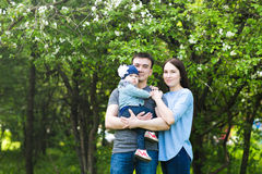 Happy young family spending time together Royalty Free Stock Image