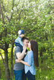 Happy young family spending time together Royalty Free Stock Images
