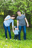 Happy young family spending time together Stock Photo