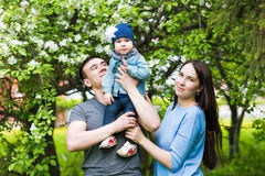 Happy young family spending time together Royalty Free Stock Photography