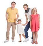Happy young family together with kids Stock Photo