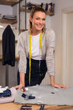 Happy young fashion designer Royalty Free Stock Photography