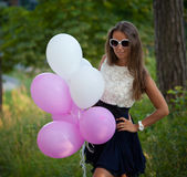 Happy young fashion woman Royalty Free Stock Photography