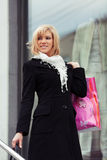 Happy young fashion woman with shopping bags Stock Image