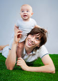 Happy young father with baby Royalty Free Stock Image