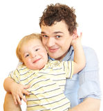 Happy young father with his son. Royalty Free Stock Image