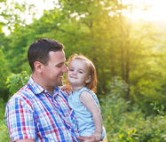 Happy young father with little baby daughter Royalty Free Stock Photos