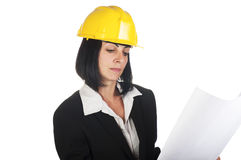 Happy young female architect Stock Photography