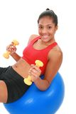 Happy Young Female at Fitness Center Royalty Free Stock Photo