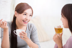 Happy young female friends royalty free stock images