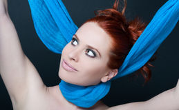 Happy young female with scarf on her neck Stock Photography