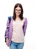 Happy young female student looking at camera Royalty Free Stock Photography