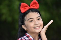 Happy Young Filipina Person. An attractive and asian person royalty free stock images