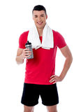 Happy young fitness man Royalty Free Stock Image