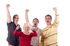 Happy young friends Royalty Free Stock Images