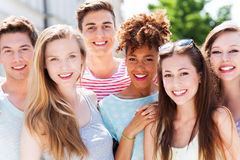 Happy young friends Stock Image
