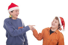 Happy young friends laughing Royalty Free Stock Photography
