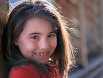 Happy young girl Stock Images