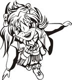 Happy young girl anime Royalty Free Stock Photos