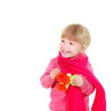 Happy young girl in bright clothes Royalty Free Stock Photos