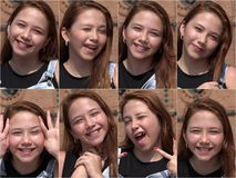 Happy Young Girl Collage. A Happy Young Girl Collage Royalty Free Stock Photo