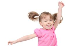 Happy young girl dancing Royalty Free Stock Images