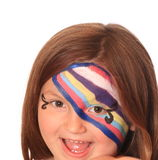 Happy Young Girl with Face Paint Stock Photography