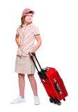 Happy young girl going on vacation Royalty Free Stock Images
