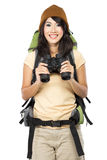 Happy young girl going on vacation Royalty Free Stock Photo