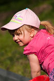 Happy young girl outdoors Stock Image
