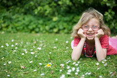 Happy young girl. Royalty Free Stock Image