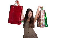 Happy young girl shopping Royalty Free Stock Photography